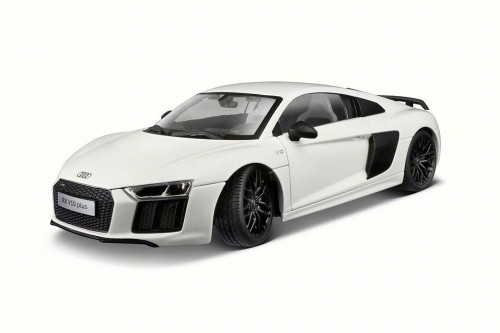 Audi R8 V10 Plus Hard Top, White - Maisto 38135W/6 - 1/18 scale Diecast Model Toy Car
