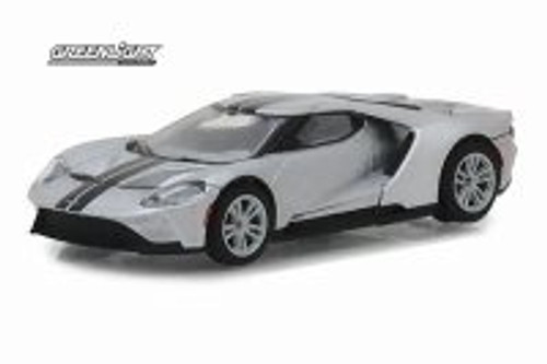 2017 Ford GT, Ingot Silver - Greenlight 29992/48 - 1/64 scale Diecast Model Toy Car