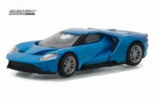2017 Ford GT, Blue - Greenlight 29933/48 - 1/64 Scale Diecast Model Toy Car