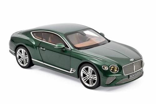 2018 Bentley Continental GT Hardtop, Metallic Green - Norev 182782 - 1/18 scale Diecast Model Toy Car