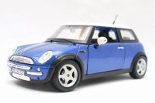 Mini Cooper, Blue - Maisto 31219BU - 1/24 scale Diecast Model Toy Car