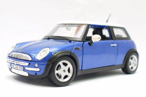 Mini Cooper, Blue - Maisto 31219BU - 1/24 scale Diecast Model Toy Car