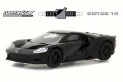 2017 Ford GT, Black - Greenlight 27950F/48 - 1/64 Scale Diecast Model Toy Car