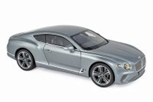 2018 Bentley Continental GT Hardtop, Metallic Gray - Norev 182780 - 1/18 scale Diecast Model Toy Car