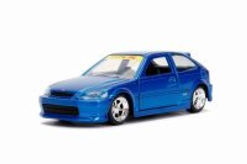 1997 Honda Civic Type R, Glossy Blue - Jada 30973DP1 - 1/32 scale Diecast Model Toy Car