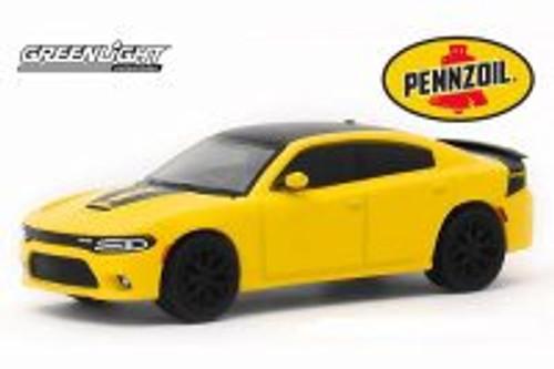 2017 Dodge Charger Daytona HEMI, Pennzoil Advertisement Car - Greenlight 30112/48 - 1/64 scale Diecast Model Toy Car