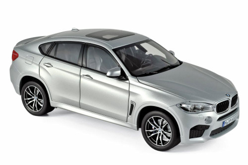2015 BMW X6 M Hard Top, Silver - Norev 183200 - 1/18 scale Diecast Model Toy Car