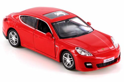 Porsche Panamera Turbo, Red - RMZ City 555002 - Diecast Model Toy Car