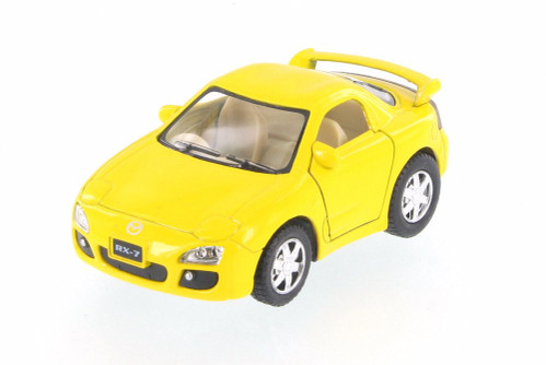 Mazda RX-7, Yellow - Kinsmart 4008/16D -  Diecast Model Toy Car