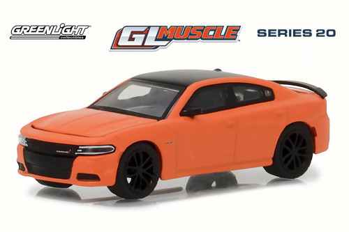 2017 Dodge Charger R/T Hard Top, Go Mango Orange - Greenlight 13210F/48 - 1/64 Scale Diecast Model Toy Car