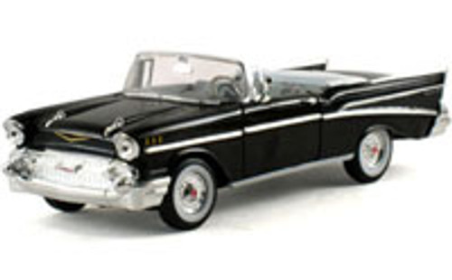 1957 Chevy Bel Air convertible, Black - Signature Models 32430 - 1/32 Scale Diecast Model Toy Car