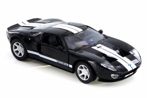 2005 Ford GT40, Black w/ White Stripes - New Ray SS-50931A - 1/32 Scale Diecast Model Toy Car
