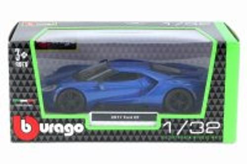 2017 Ford GT, Metallic Blue - Bburago 18-43043BL - 1/32 Scale Diecast Model Toy Car