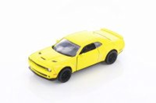 Dodge Challenger SRT Hellcat Widebody Hardtop, Yellow - Showcasts 73675D - 1/32 scale Diecast Model Toy Car