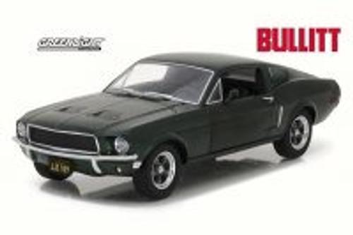 1968 Steve McQueen Bullitt Ford Mustang GT Hard Top, Green - Greenlight 84041 - 1/24 Scale Diecast Model Toy Car