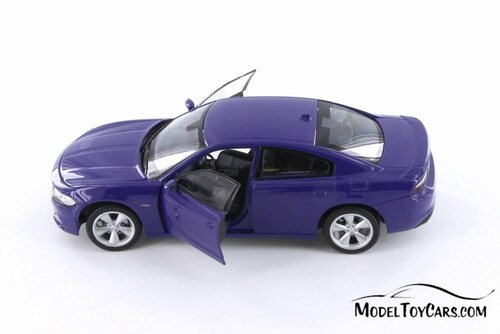 2016 Dodge Charger R/T Hardtop, Purple - Welly 24079WPR - 1/24 scale Diecast Model Toy Car