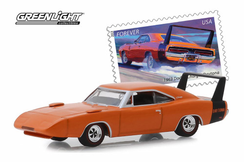1969 Dodge Charger Daytona, United States Postal Service (USPS®) 2013 Stamps - Greenlight 30068/48 - 1/64 scale Diecast Model Toy Car