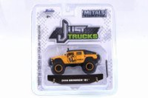 2006 Hummer H1, Yellow - Jada 14020-W23 - 1/64 Scale Diecast Model Toy Car
