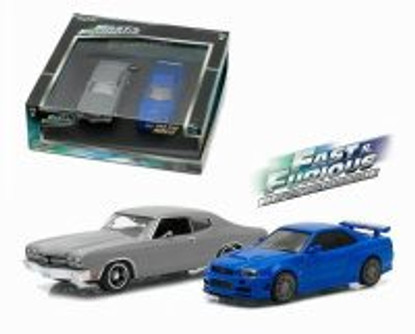 1970 Chevy Chevelle and 2002 Nissan Skyline GT-R, Fast and Furious - Greenlight 86252 - 1/43 scale Diecast Model Toy Car