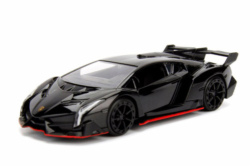 2017 Lamborghini Veneno Hard Top, Black - Jada 30104DP1 - 1/32 Scale Diecast Model Toy Car