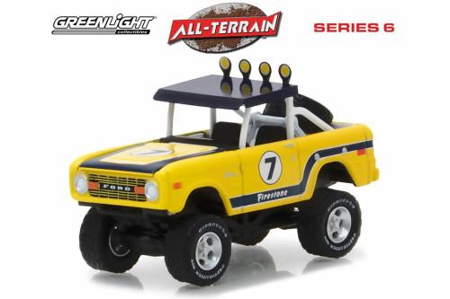 1972 Ford Bronco Baja, Yellow - Greenlight 35090B/48 - 1/64 Scale Diecast Model Toy Car