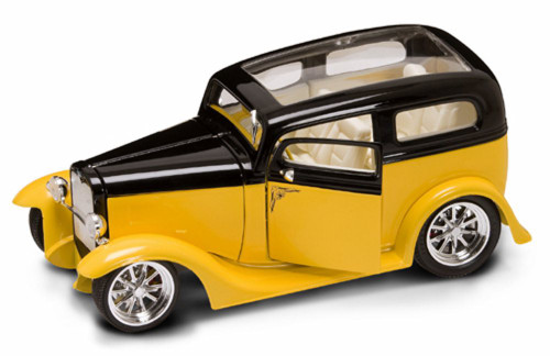 1931 Ford Model A Sedan, Yellow - Yatming 92848 - 1/18 Scale Diecast Model Toy Car