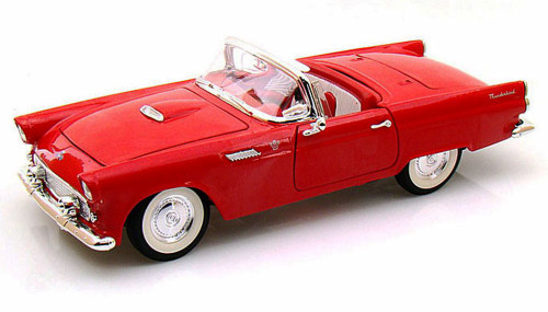 1955 Ford Thunderbird Convertible, Red - Yatming 92068 - 1/18 Scale Diecast Model Toy Car