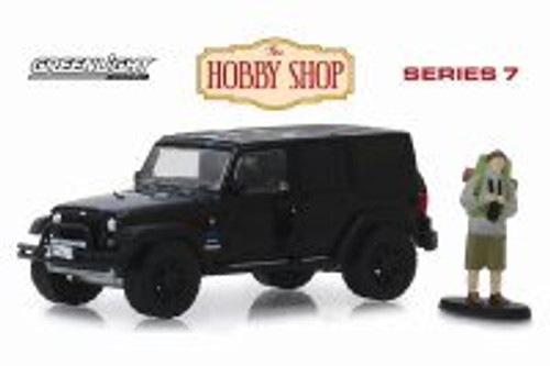 2012 Jeep Wrangler Unlimited MOPAR Off-Road Edition with Backpacker, Black - Greenlight 97070F/48 - 1/64 scale Diecast Model Toy Car