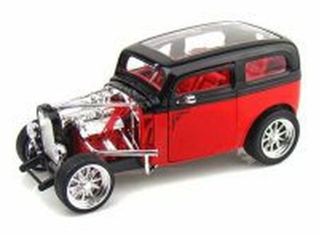 1931 Ford Model A Custom, Red - Yatming 92849 - 1/18 Scale Diecast Model Toy Car