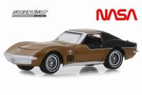 """1969 Chevy Corvette, NASA Apollo XII """"AstroVette"""" - Greenlight 30073/48 - 1/64 scale Diecast Model Toy Car"""