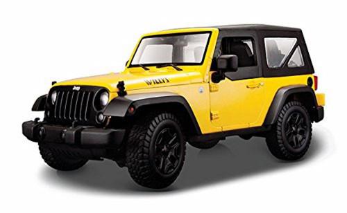 2014 Jeep Wrangler, Yellow - Maisto 31676YL - 1/18 scale diecast model car