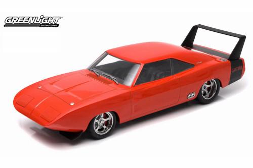 1969 Dodge Charger Daytona, Orange - Greenlight 19004 - 1/18 Scale Diecast Model Toy Car