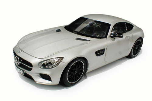 2015 Mercedes-Benz AMG GT, Silver - Norev 183495 - 1/18 Scale Diecast Model Toy Car