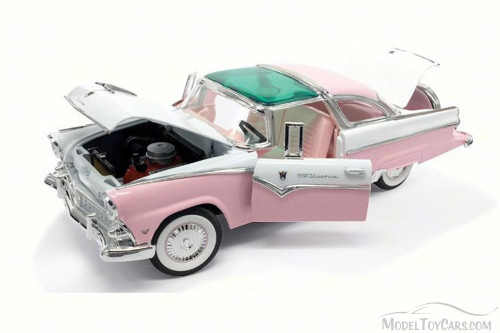 1955 Ford Crown Victoria, Pink - Lucky 92138 - 1/18 Scale Diecast Model Toy Car