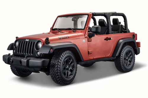 2014 Jeep Wrangler Topless, Copper - Maisto 31610 - 1/18 Scale Diecast Model Toy Car