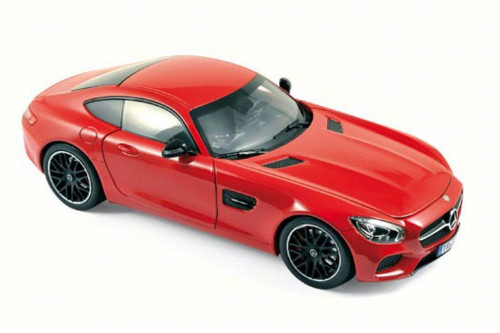 2015 Mercedes-Benz AMG GT, Red - NOREV 183496 - 1/18 Scale Diecast Model Toy Car