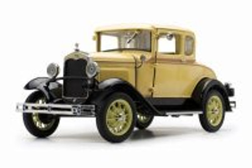 1931 Ford Model A Coupe, Bronson Yellow - Sun Star 6135YL - 1/18 scale Diecast Model Toy Car