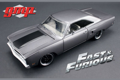 1970 Plymouth Road Runner  The Hammer The Fast & Furious Tokyo Drift Movie, Silver w/Black - Greenlight 18857 - 1/18 Scale Diecast Model Toy Car