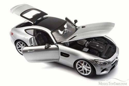 Mercedes-Benz AMG GT, Silver - Maisto 36204SV - 1/18 Scale Diecast Model Toy Car