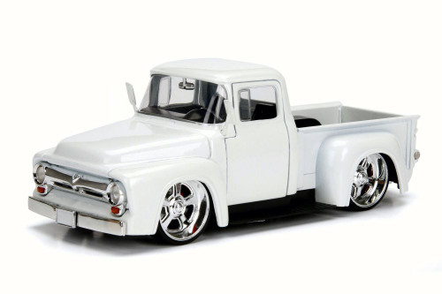 1956 Ford F-100 Pick Up, White - Jada 99043 - 1/24 Scale Diecast Model Toy Car