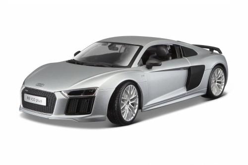 Audi R8 V10, Silver - Maisto 36213SV - 1/18 Scale Diecast Model Toy Car