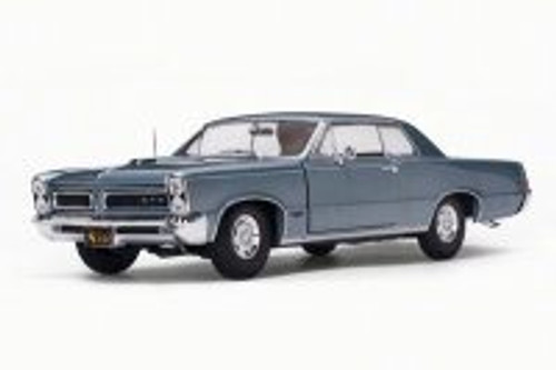 1965 Pontiac GTO, Blue Mist/Slate - Sun Star 1844 - 1/18 Scale Diecast Model Toy Car