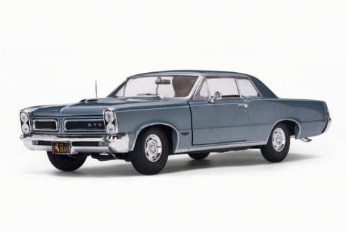 1965 Pontiac GTO, Blue Mist/Slate - Sun Star 1844 - 1/18 Scale Diecast Model Toy Car