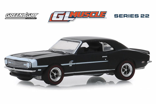 1968 Chevy COPO Camaro Hardtop, Tuxedo Black - Greenlight 13250A/48 - 1/64 scale Diecast Model Toy Car