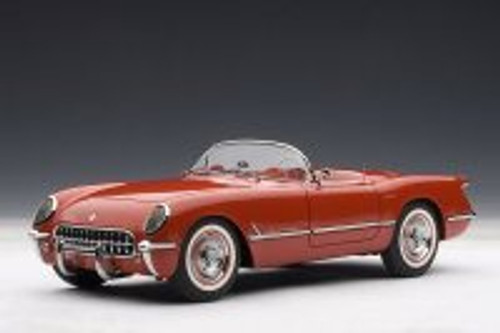 1954 Chevy Corvette Convertible, Red - AUTOart 71082 - 1/18 Scale Resin Model Toy Car