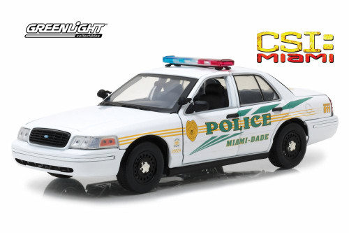 2003 Ford Crown Victoria, CSI: Miami - Greenlight 13514 - 1/18 Scale Diecast Model Toy Car
