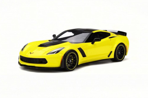 2016 Chevy Corvette Z06, Yellow - GT Spirit GT171 - 1/18 Scale Collectible Resin Model Car