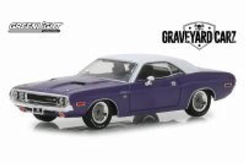 1970 Dodge Challenger R/T Hard Top, Graveyard Carz - Greenlight 86553 - 1/43 Scale Diecast Model Toy Car