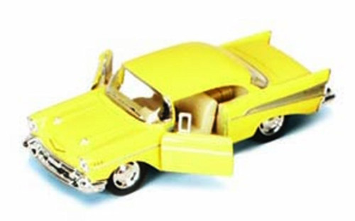 1957 Chevy Bel Air, Yellow - Kinsmart 5313D - 1/40 scale Diecast Model Toy Car (Brand New, but NOT IN BOX)