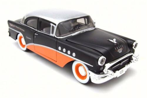 1955 Bluck Century, Black w/ Orange - Maisto 32197BK - 1/26 Scale Diecast Model Toy Car
